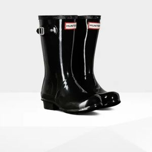 HUNTER Original Kids Gloss Boot in Black